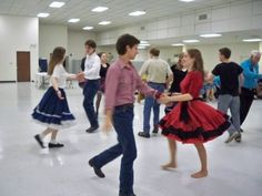 square dancing in elementary school - usually paired with a boy I was at odds with so my hands got squeezed hard -- elementary school version of flirting