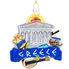 Greece Landmarks Glass Ornament from Bronner's Christmas store of Christmas ornaments and Christmas lights Christmas Travel, Christmas Store, Blown Glass Christmas Ornaments, Ornament Hooks, Personalized Christmas Ornaments, How To Make Ornaments, Traveling By Yourself, Christmas Decorations, Greece Travel
