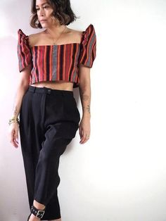 VINTA Gallery   Womens Collection Filipino Fashion, Philippine Fashion, Modern Filipiniana Gown, Belly Top, Corporate Attire, Casual Outfits, Fashion Outfits, Blouse Styles, Modern Fashion