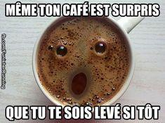 Même ton café est surpris...