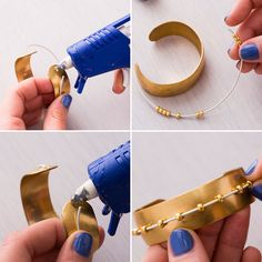Accessorize your look with this DIY cuff.