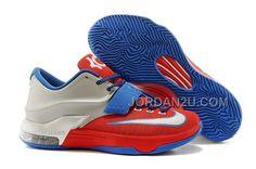 Nike KD 7 Red Silver Blue Online
