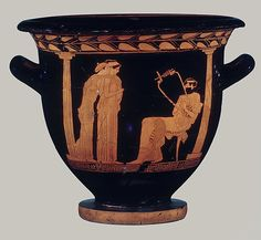 Attributed to the Danaë Painter (Classical Greece).  Terracotta bell-krater (bowl for mixing wine and water), ca. 460 B.C.The Metropolitan Museum of Art, New York. Rogers Fund, 1923 (23.160.80).