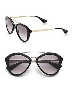 126fc0ed334 Prada Oversized Round Sunglasses Sunglasses Accessories