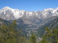 Mont Blanc chain in Aosta Valley - Italy