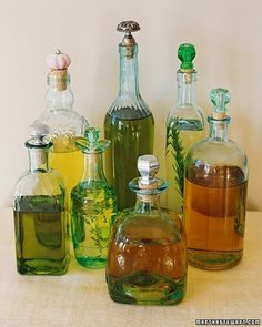 Make herbal infused oils for gifts...
