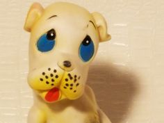 Goofy Vintage Squeaky Toy Boxing Dog Rubber Annimal Made in Taiwan by PastBack on Etsy