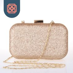 Sparkling Champagne Glitter Clutchbox Woman Bling Chain Shoulder Bag Clutch Evening Bag Messenger Bag