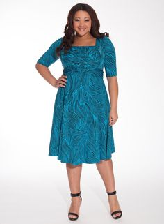 Tiffany Dress in Turquiose Waves. www.IGIGI.com