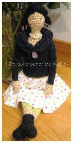 """""""tilda-like"""" crochet doll"""