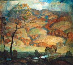 N. C. Wyeth, Chadds Ford Hills, c. 1931