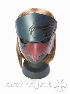 Garuda mask   迦楼羅マスク。 牛革製。 astrojet