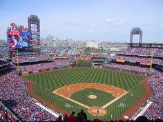 Saw my favorite team, Chicago Cubs play the Philadelphia Phillies here at Citizens Bank Park. Stadium Tour, Sports Stadium, Baseball Park, Baseball Field, Mlb Games, Field Of Dreams, Houston Astros, Philadelphia Phillies, Major League