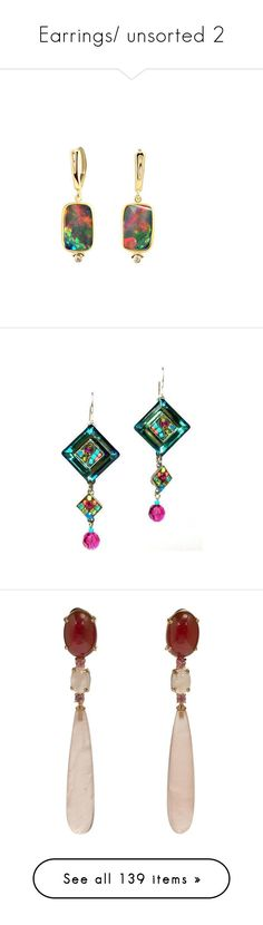 """""""Earrings/ unsorted 2"""" by thesassystewart on Polyvore featuring jewelry, earrings, earring jewelry, drop earrings, blue topaz jewelry, blue topaz earrings, blue topaz drop earrings, chandelier earrings, yellow and pink topaz earrings"""