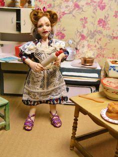 Dollhouse OOAK Miniature Doll Peg Swinelove 7 The by LoreleiBlu, $98.00