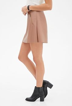 Zippered Faux Leather Mini Skirt | FOREVER21 - 2000057181