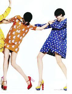 Victoria Beckham Cat Print Dress