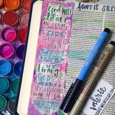 Bible Journaling and what works. Tips and ideas for creating art in your Bible, Scripture art.