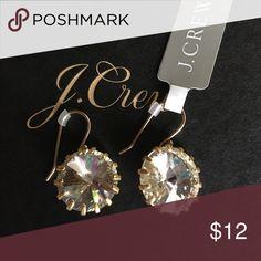 Crystal drop earrings nwt New tags crystal jcrew earrings J. Crew Jewelry Earrings