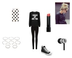"""Running Late for School"" by kaylamirzai ❤ liked on Polyvore featuring Oasis, Converse, Forever 21, Bobbi Brown Cosmetics, Kate Spade and Beats by Dr. Dre"