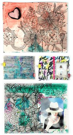 a peek inside my art journal and a GIVEAWAY!