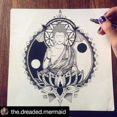Buddha by @the.dreaded.mermaid  I started this almost 3 months ago and I lost…
