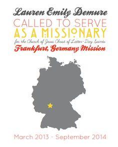 Custom LDS Missionary Mission Call Print - Printable - Digital File. via Etsy // Ever Love Design