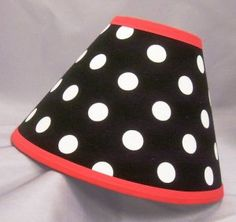 Polka dots lamp shade by luluslamps on madeit kids bedrooms image detail for black white polka dot lamp shade great for the right spot in your house aloadofball Gallery