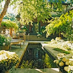 An 18-inch-deep reflecting pool makes this outdoor space stand out. More Dream Water Gardens: http://www.bhg.com/gardening/landscaping-projects/water-gardens/dream-water-gardens/?socsrc=bhgpin042012watergardens