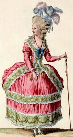 (French 18th Century Fashion Plate)