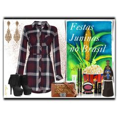 Party in Brazil by anitafonseca on Polyvore featuring moda, Rails, Jose & Maria Barrera, Bobbi Brown Cosmetics and Chanel