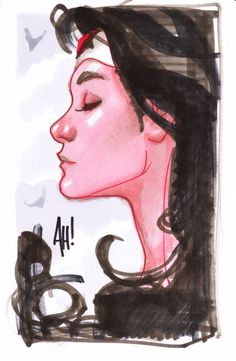 Original Comic Art titled Adam Hughes Wonder Woman Sketch, located in Nick 's Gone, but not forgotten. Adam Hughes, Comic Book Artists, Comic Artist, Comic Books Art, Design Reference, Art Reference, Character Art, Character Design, Animation Character