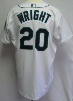 bab3e7621 2003 Seattle Mariners Ron Wright  20 Game Issued White Home Jersey - Game  Used MLB Jerseys by Sports Memorabilia.  156.13. 2003 Seattle Mariners Ron  Wright ...