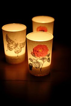 Beautiful candles!! I saw somewhere that these were DIY but the link isn't particularly helpful and I'm not sure how I would make these. Any suggestions?