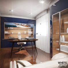 Пример рабочего кабинета в загородном доме: интерьер, квартира, дом…