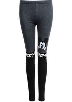 692052939d9315 Black Mickey mouse Leggings - Picky Mickey Mouse, Jay, Sweatpants, Slim,  Michey