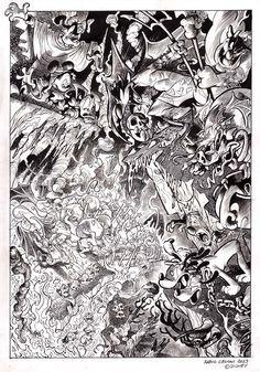 L'Inferno di Topolino (Mickey's Inferno) Comic Art
