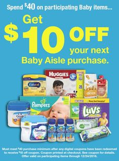 Spend $40 on Baby items at Kroger, Get $10 off your next Baby Aisle Purchase  http://freebies4mom.com/krogerbaby/ ad  What a great deal!!!