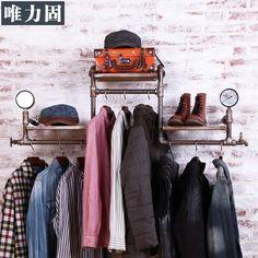 Loja mulheres e de fazer o velho retro nostalgia de loja de roupas cabides de parede gancho(China (Mainland))
