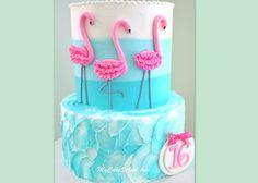 Flamingo Cake~ A Video Tutorial