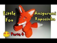...4...Olá pessoal!!! Nesse vídeo eu vou ensinar passo a passo como fazer uma linda raposinha em crochê! Estou apaixonada por ela, e com vontade de fazer muitos bic... Cactus Amigurumi, Mini Amigurumi, Amigurumi Animals, Amigurumi Doll, Amigurumi For Beginners, Little Fox, Penguin, Dinosaur Stuffed Animal, Crochet Hats