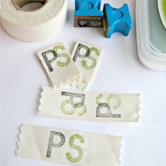 Make your own clothing labels or tags. Plus links to even more DIY label ideas!