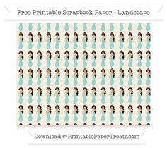 Free Landscape Eggshell Chevron Large Princess Jasmine Pattern Paper - Aladdin