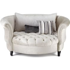 Haute House Harlow Silver Cuddle Chair (1.635 BRL) ❤ liked on Polyvore featuring home, furniture, chairs, accent chairs, chair, decor, interior, haute house and haute house furniture