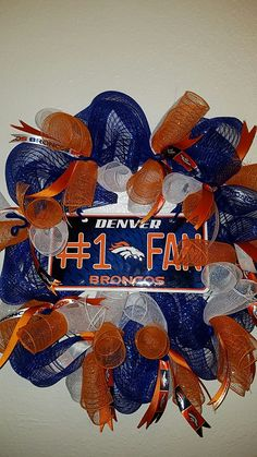 Broncos wreath