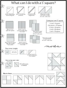 Moda fabric cutting guide