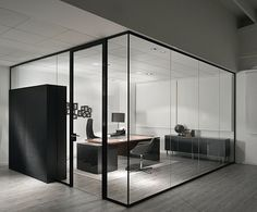 Office interiors to dream of. Making best use of the office space with this stylish partitioning. Wow! Find out more. http://www.huntsoffice.co.uk/office-interiors-i55