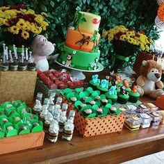 Festa Safari do Dudu | Produção: Um doce a mais | Kit digital personalizado: Quero uma Festa
