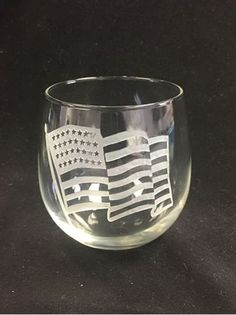 Glasses made in the USA by Libbey! Hand sand etched by Crystal House! City Skylines, our images or yours deep etched on stemless wine glasses by master engravers at Crystal House in Wheaton.