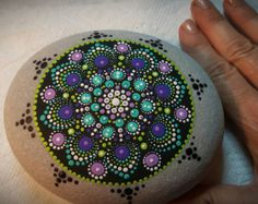 Large Mandala stone by PierreduCoeur on Etsy